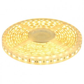 LED Strip 24V warmweiß, 5 Meter, 300 SMD 5050 LED's, wasserdicht IP68