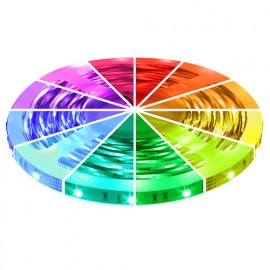 RGB LED Strip 12V, 5 meter, 150 SMD 5050 LED's